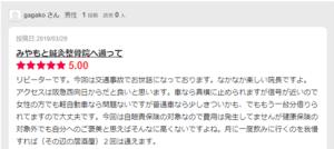 交通事故患者様のgagako様からのエキテンのクチコミ「交通事故でお世話になってます。なかなか楽しい院長ですよ」