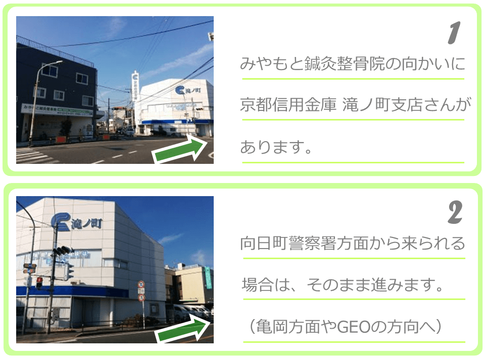 京都信用金庫滝ノ町支店さんの向かい
